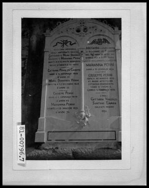 Primary view of object titled 'Perini Family Headstone'.