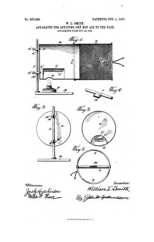 Primary view of object titled 'Apparatus for Applying Dry Hot Air to the Face'.