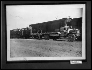 Primary view of object titled 'Men with Truck and Train'.