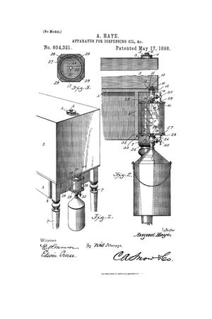 Primary view of object titled 'Apparatus for Dispensing Oil, &c.'.