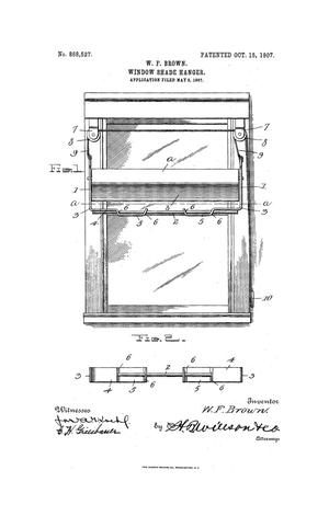 Primary view of object titled 'Window-Shade Hanger.'.