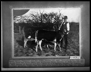 Primary view of object titled 'Man with Two Cows'.