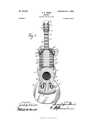 Primary view of object titled 'Guitar.'.