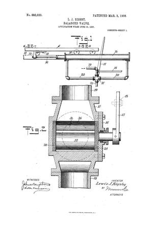 Primary view of object titled 'Balanced Valve'.