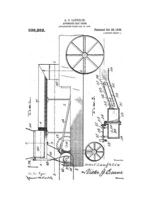 Primary view of object titled 'Automatic Hay-Press'.