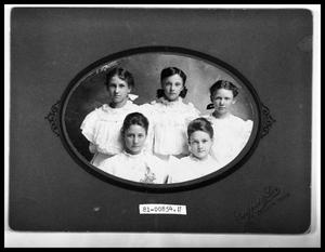 Primary view of object titled 'Portrait of Five Girls'.