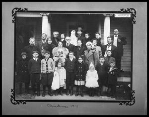 Primary view of object titled 'Family Portrait on Front Porch'.