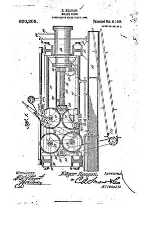 Primary view of object titled 'Roller-Press.'.