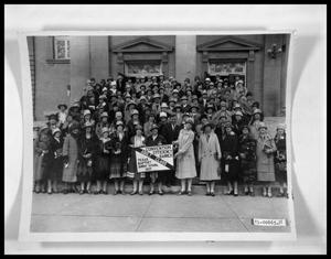 Primary view of object titled 'Women's Group on Church Steps'.
