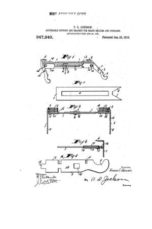 Primary view of object titled 'Adjustable Support and Bracket for Shade-Rollers and Curtains'.