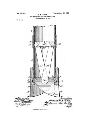Primary view of object titled 'Bit for Well-Drilling Apparatus.'.