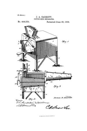 Primary view of object titled 'Cotton-Seed Separator.'.
