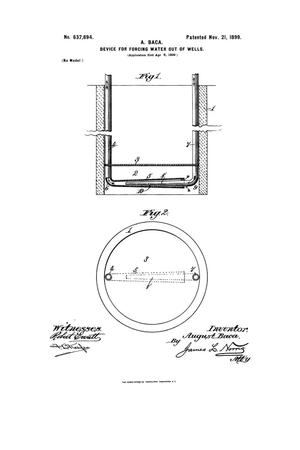 Primary view of object titled 'Device For Forcing Water Out Of Wells.'.