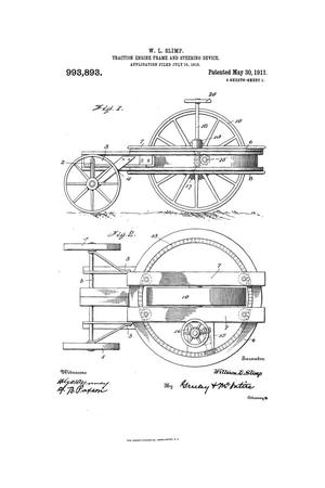 Primary view of object titled 'Traction-Engine Frame and Engineering Device.'.