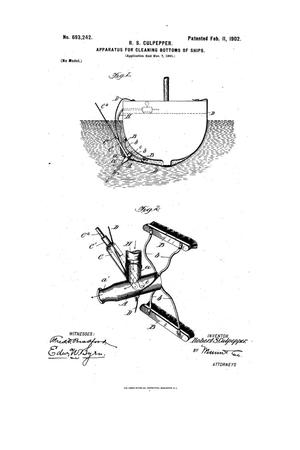 Primary view of object titled 'Apparatus for Cleaning Bottoms of Ships.'.