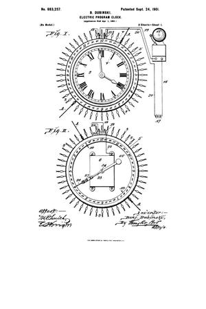 Primary view of object titled 'Electric Program-Clock.'.