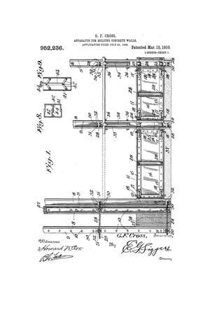 Primary view of object titled 'Apparatus for Molding Concrete Walls'.