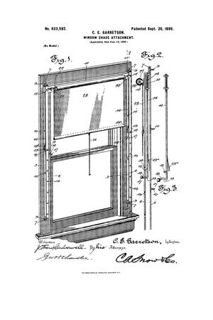 Primary view of object titled 'Window-Shade Attachment.'.