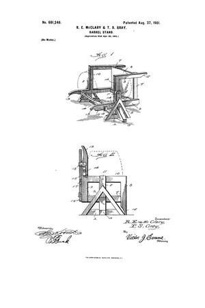 Primary view of object titled 'Barrel-Stand.'.