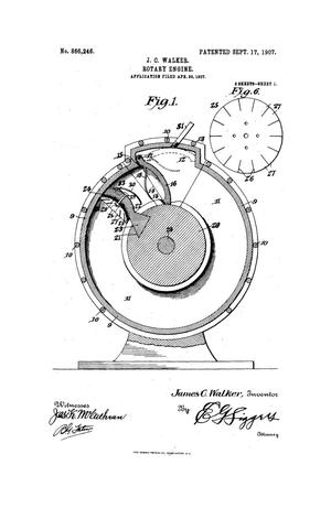 Primary view of object titled 'Rotary Engine.'.