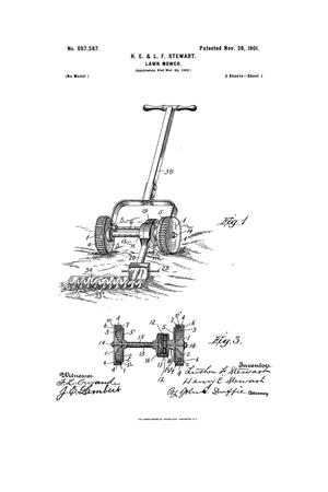 Primary view of object titled 'Lawn-Mower.'.
