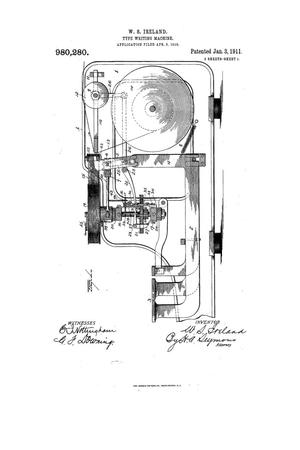 Primary view of object titled 'Type Writing Machine'.