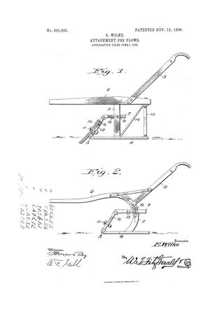 Primary view of object titled 'Attachment For Plows'.