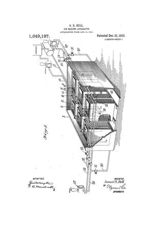 Primary view of object titled 'Ice-Making Apparatus'.