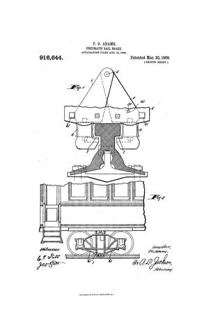 Primary view of object titled 'Pneumatic Rail-Brake.'.