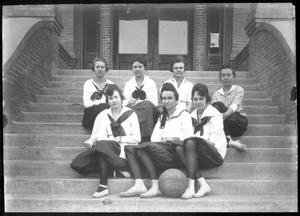 Primary view of object titled '[The Championship Girls Basketball Team (1918) from Richmond]'.