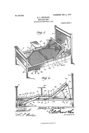 Primary view of object titled 'Invalid bed'.