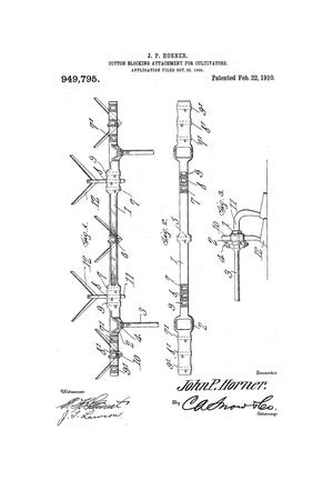 Primary view of object titled 'Cotton-Blocking Attachment for Cultivators'.