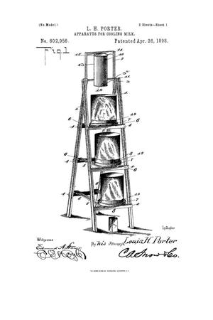 Primary view of object titled 'Apparatus for Cooling Milk.'.