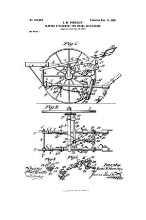 Primary view of object titled 'Planter Attachment for Wheel-Cultivators.'.