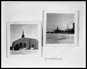 Primary view of object titled 'Chapel in Snow; Chapel in Snow'.