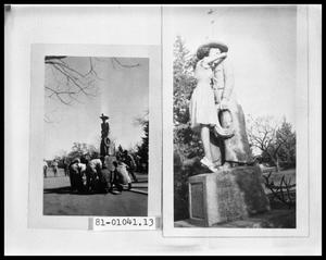 Primary view of object titled 'Men Moving Statue; Men Moving Statue'.