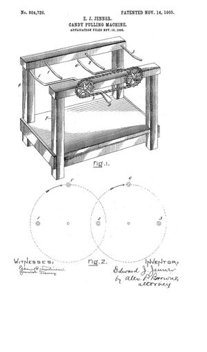 Primary view of object titled 'Candy Pulling Machine'.