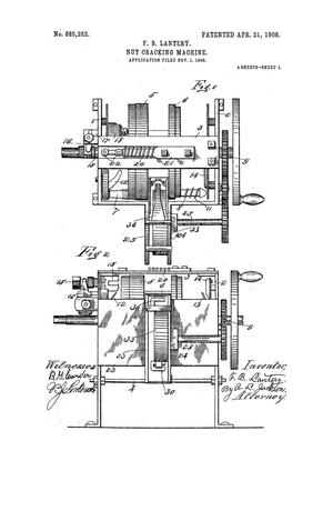 Primary view of object titled 'Nut-Cracking Machine'.