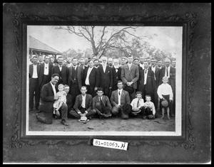 Primary view of object titled 'Large Gathering of Men'.