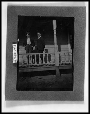 Primary view of object titled 'Two Men on Porch'.