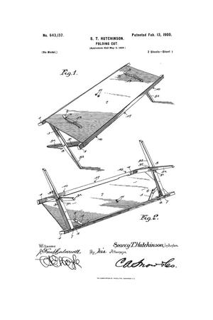 Primary view of object titled 'Folding Cot.'.