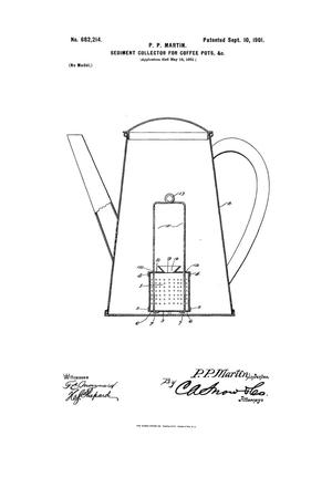 Primary view of object titled 'Sediment-Collector for Coffee-Pots, &c.'.