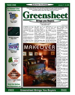 Primary view of Greensheet (Houston, Tex.), Vol. 36, No. 590, Ed. 1 Tuesday, January 17, 2006