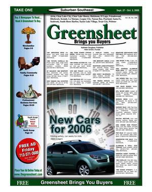 Primary view of Greensheet (Houston, Tex.), Vol. 36, No. 398, Ed. 1 Tuesday, September 27, 2005