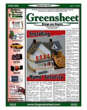 Primary view of object titled 'Greensheet (Houston, Tex.), Vol. 39, No. 270, Ed. 1 Wednesday, July 9, 2008'.