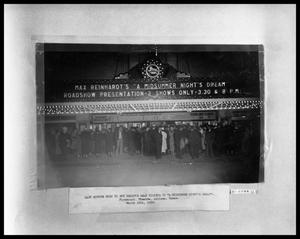 Primary view of object titled 'Crowd at Theater Doors #1'.
