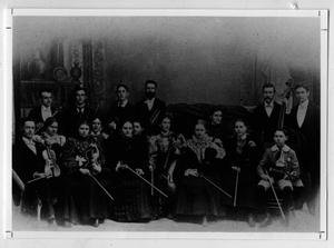 Primary view of object titled 'College orchestra, 1898'.