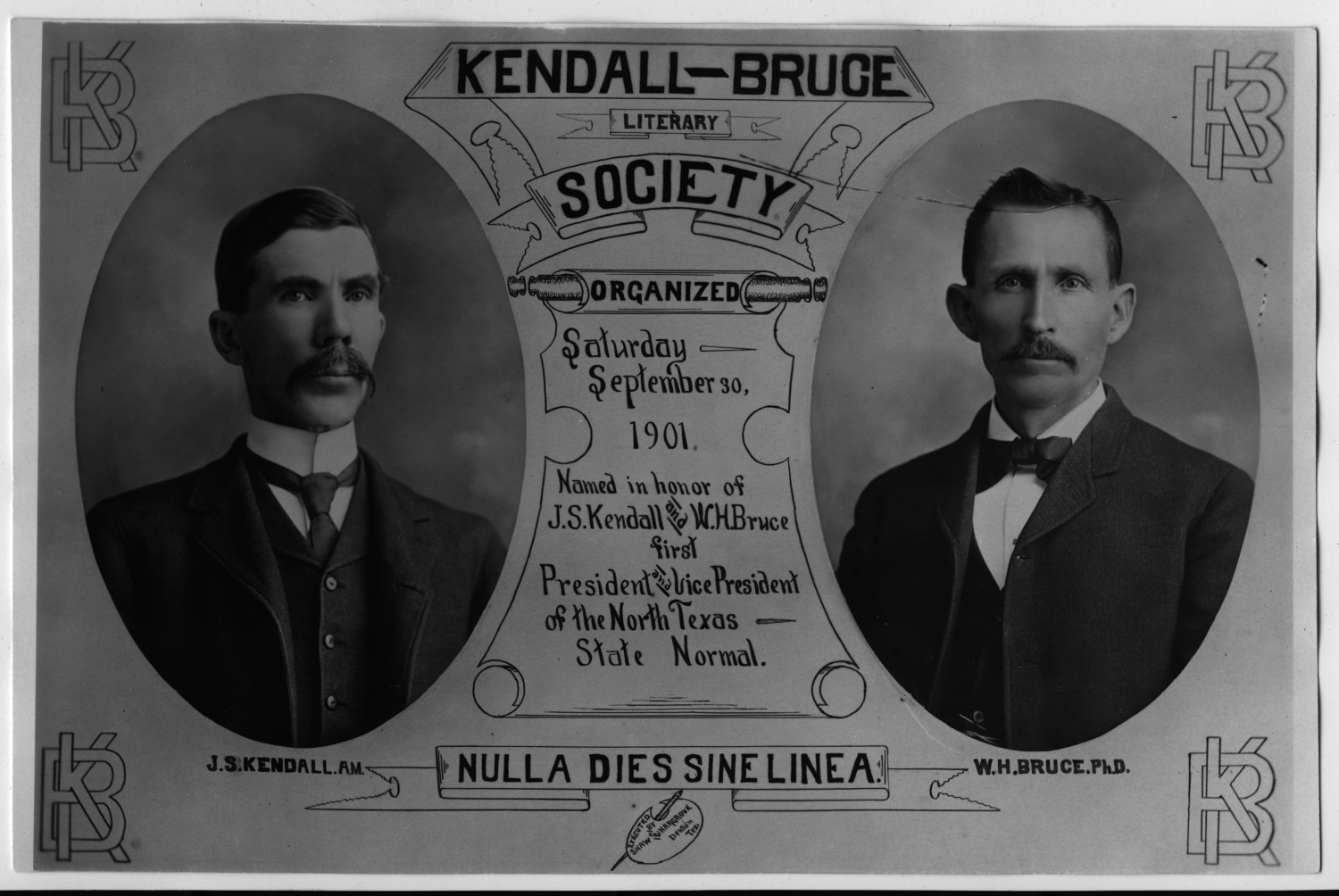 Kendall-Bruce Literary Society                                                                                                      [Sequence #]: 1 of 1