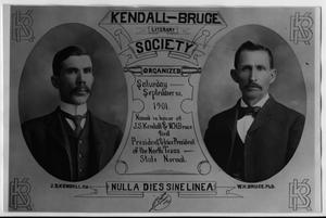 Primary view of object titled 'Kendall-Bruce Literary Society'.