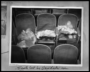 Primary view of object titled 'Theater Seats Vandalized'.